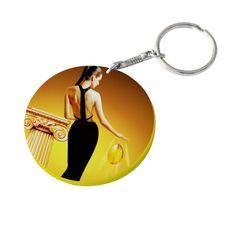 Round Keychain Polymer