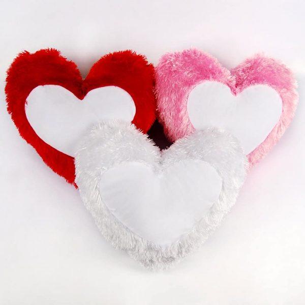 Fur Heart Pillow
