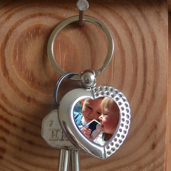 Stainless Heart Keychain