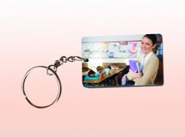 Rectangle MDF Keychain