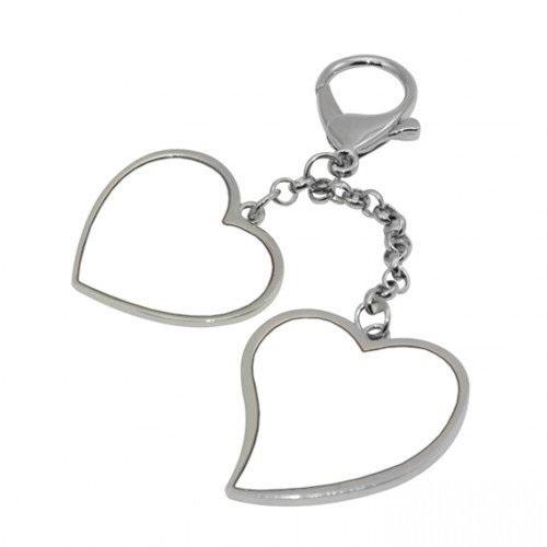 Hearts Hanging Keychain