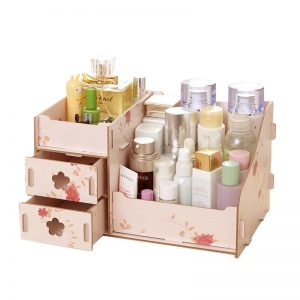 Wooden Cosmetics Storage