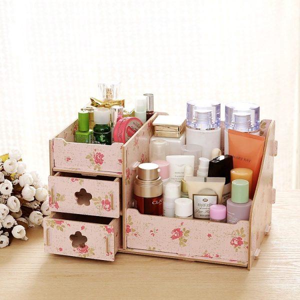 Wooden Cosmetics Storage